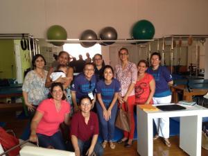 Reunião de orientação das ativadoras do Movimento Down em Belém, na sala de pilates da Clínica Humana, eterna parceira em todos os projetos.